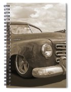 Rusty Studebaker In Sepia Spiral Notebook