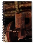 Rusty Train Back Spiral Notebook