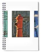 Rusty Triptych Spiral Notebook