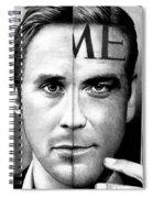 Ryan Gosling And George Clooney Spiral Notebook