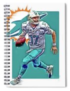 Ryan Tannehill Miami Dolphins Oil Art Spiral Notebook