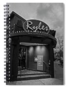 Ryles Jazz Club Cambridge Ma Inman Square Hampshire Street Black And White Spiral Notebook