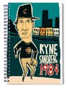 Ryne Sandberg Chicago Cubs Spiral Notebook