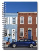 S Baltimore Row Homes - Wide Spiral Notebook