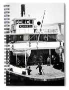 S. P. Ferry Alameda At San Francisco Circa 1940 Spiral Notebook