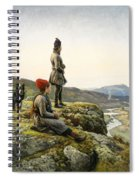 Saami Couple With Dog Spiral Notebook