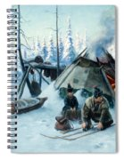 Saami Family At The Hut Spiral Notebook