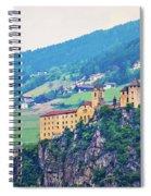 Saben Abbey On High Cliff Near Klausen View Spiral Notebook