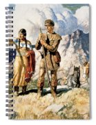 Sacagawea With Lewis And Clark During Their Expedition Of 1804-06 Spiral Notebook