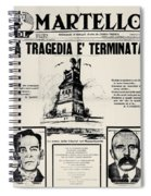 Sacco And Vanzetti Front Page Spiral Notebook
