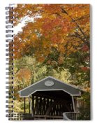 Saco River Covered Bridge Under Fall Foliage Spiral Notebook