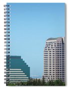 Sacramento California Cityscape Skyline On Sunny Day Spiral Notebook