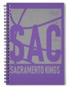 Sacramento Kings City Poster Art Spiral Notebook