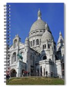 Sacre Coeur In The Montmartre Area Of Paris, France  Spiral Notebook