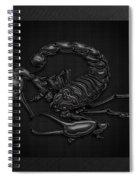 Sacred Black Scorpion On Black Canvas Spiral Notebook