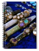Sacred Gemstones Energy Amulets Crystal Balls Magic Wands Spiral Notebook