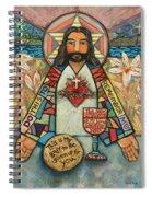 Sacred Heart Of Jesus Spiral Notebook
