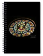 Sacred Heart Of Jesus Stained Glass Window Spiral Notebook