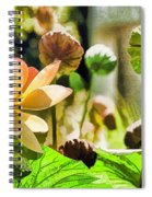 Sacred Lotus Painted Series Spiral Notebook