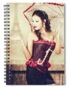 Sad French Pin-up Woman. Loss In The City Of Love Spiral Notebook