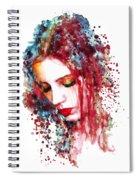 Sad Woman Spiral Notebook