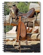 Saddle On Ranch Fence Spiral Notebook