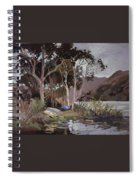 Safe Shelter  - Plein Air - Catalina Island Spiral Notebook