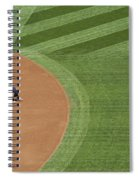 Safeco Field Abstract Patterns With Ground Crew Preparing Field  Spiral Notebook