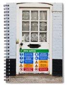 Safety Sign Spiral Notebook
