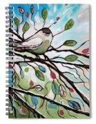 Sage Glimmering Songbird  Spiral Notebook