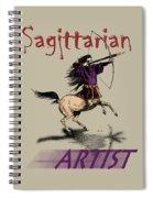 Sagittarian Artist Spiral Notebook