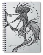 Sagittaurus Spiral Notebook