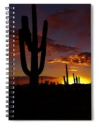 Saguaro Sunset Silhouette #2 Spiral Notebook