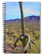 Saguaro With Down Twist Spiral Notebook