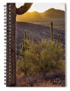 Saguaros At Sunset Spiral Notebook