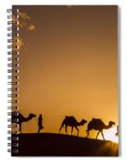 Sahara Desert Sunset Spiral Notebook