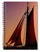 Sail At Sunset Spiral Notebook