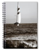 Sail Boat Coming Ashore 2 Spiral Notebook