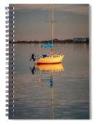 Sail Boat In Roanoke Sound 1x2 Ratio Img_3969 Spiral Notebook