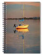 Sail Boat In Roanoke Sound 1x2 Ratio Photo Painting Img_3969 Spiral Notebook
