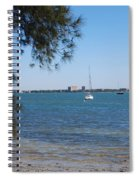 Sail Boat On Sarasota Bay Spiral Notebook