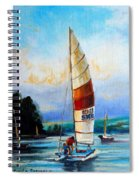 Sail Boats On The Lake Spiral Notebook