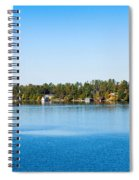 Sailboat And Cottages On Rocky Spiral Notebook