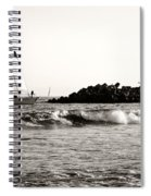 Sailboat And Lighthouse 2 Spiral Notebook