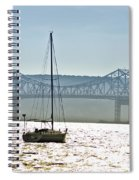 Sailboat And The Tappan Zee Bridge Spiral Notebook