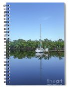 Sailboat At Dock Florida Spiral Notebook