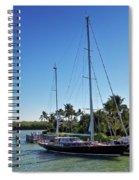 Sailboat At Royal Harbor Spiral Notebook