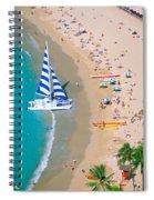 Sailboat At Waikiki Spiral Notebook