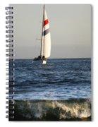 Sailboat Coming Ashore 1 Spiral Notebook