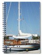 Sailboat In Harbor Summer Vacation Scene Spiral Notebook